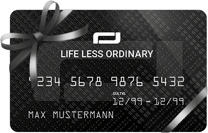 Life Less Ordinary Card with ribbon